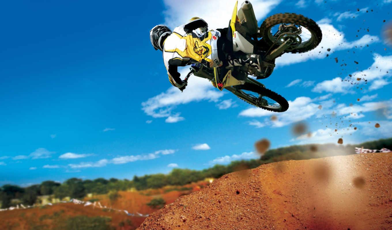 ,motocross, мотоцикл, stunt, sport, прыжек,