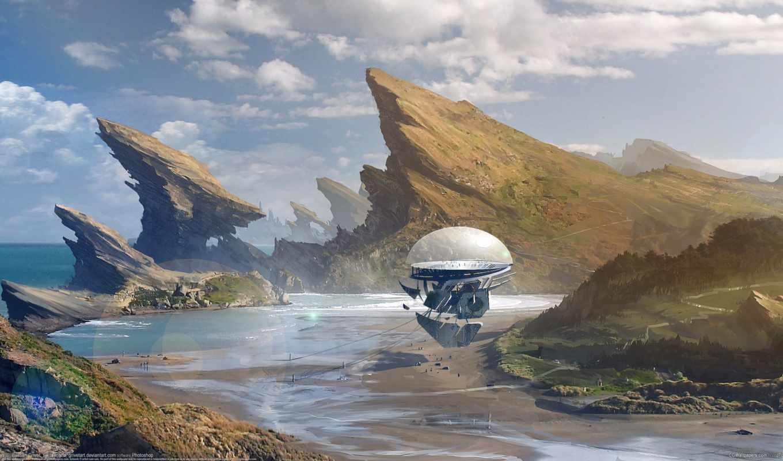 количество, фантастика, art, sci, небо, будущее, мб,