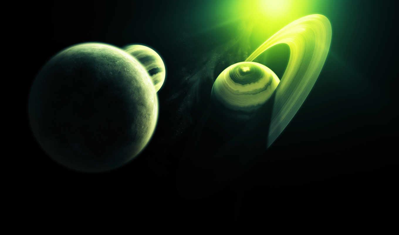 cosmos, планеты, кольца, рисунок, planet,