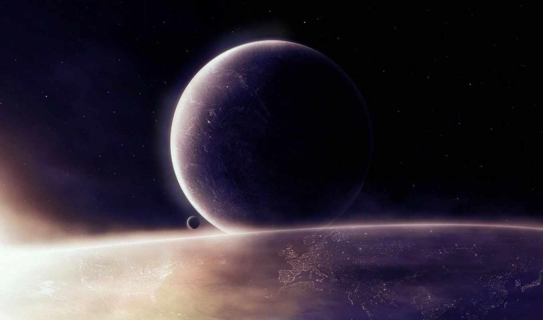 космос, свет, планеты, картинка, картинку,