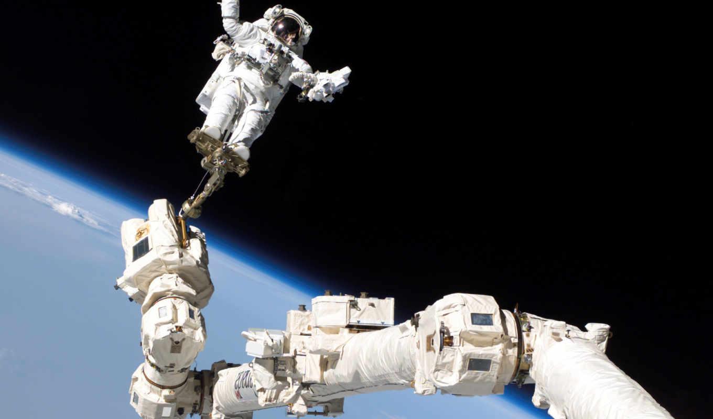 открытом, космосе, космос, космонавт, скафандра, выход, outdoor, без,