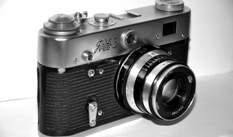 фотоаппарат, объектив, ФЭД-3, ретро