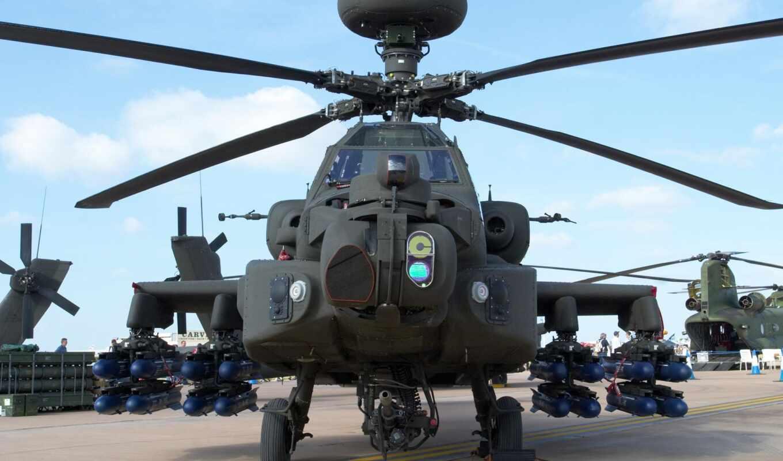 apache, вертолет, ah, апач, авиация,