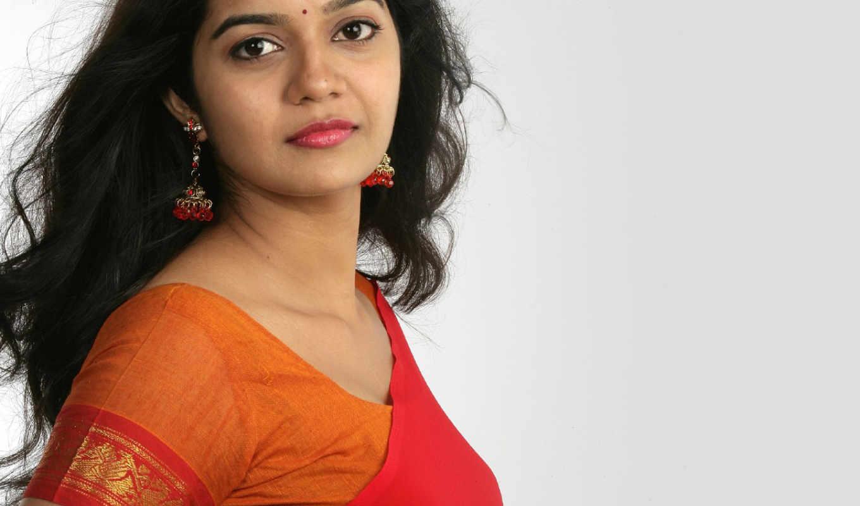 saree, indian, swathi, red, тона, актриса, free,