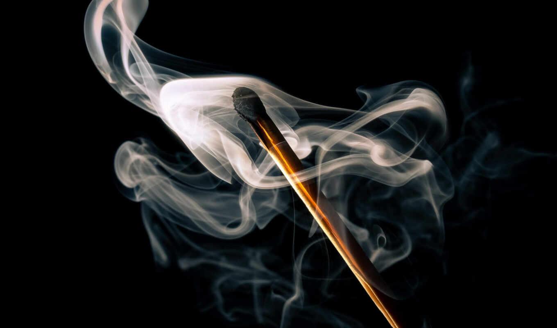 спичка, дым, табак, makryi, extinguish, burn
