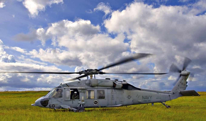 вертолет, лопасти, авиация,