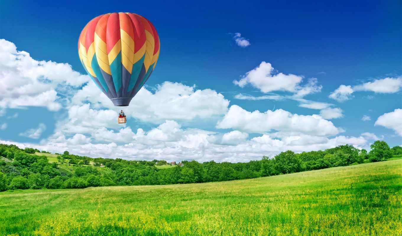небо, aerial, мяч, шара, небе,
