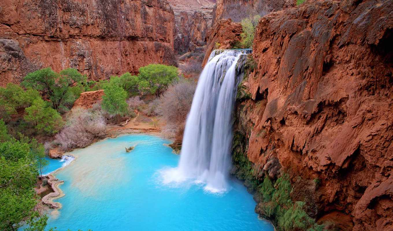 havasu, falls, водопад, havasupai, водопады,