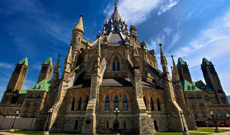 парламент, библиотека, канада, канадский, ottawa,