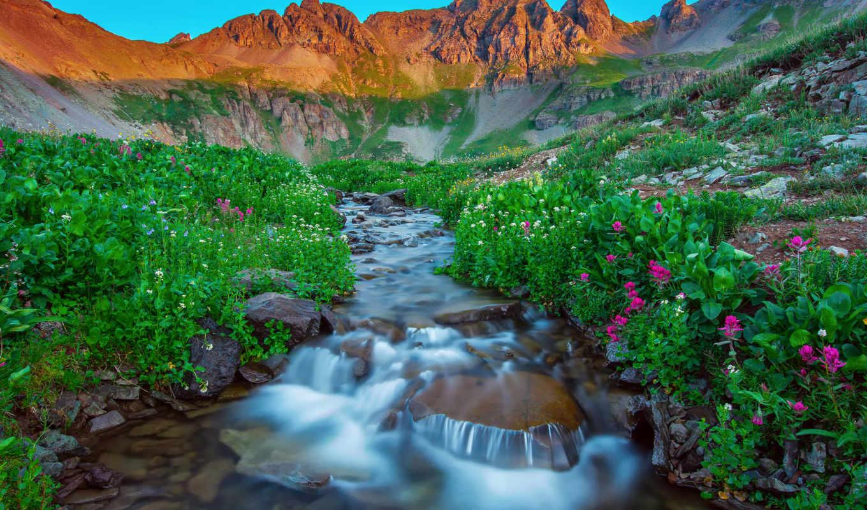 природа, summer, landscape, america, водопад, mountains, water, гора, natural,