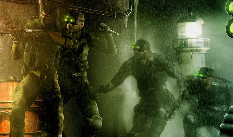 бандит, дождь, сэм, фишер, калаш, картинка, картинку, splinter, cell, кнопкой, мыши,