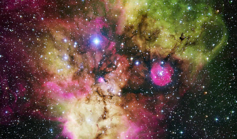 разноцветная, туманность, хаббл, красивая, ngc, hubble, similar,