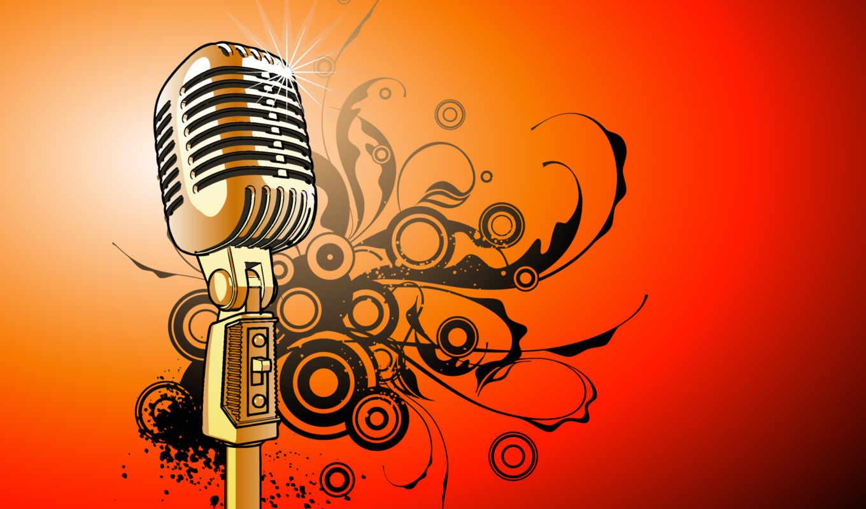 mikrofon, ретро,