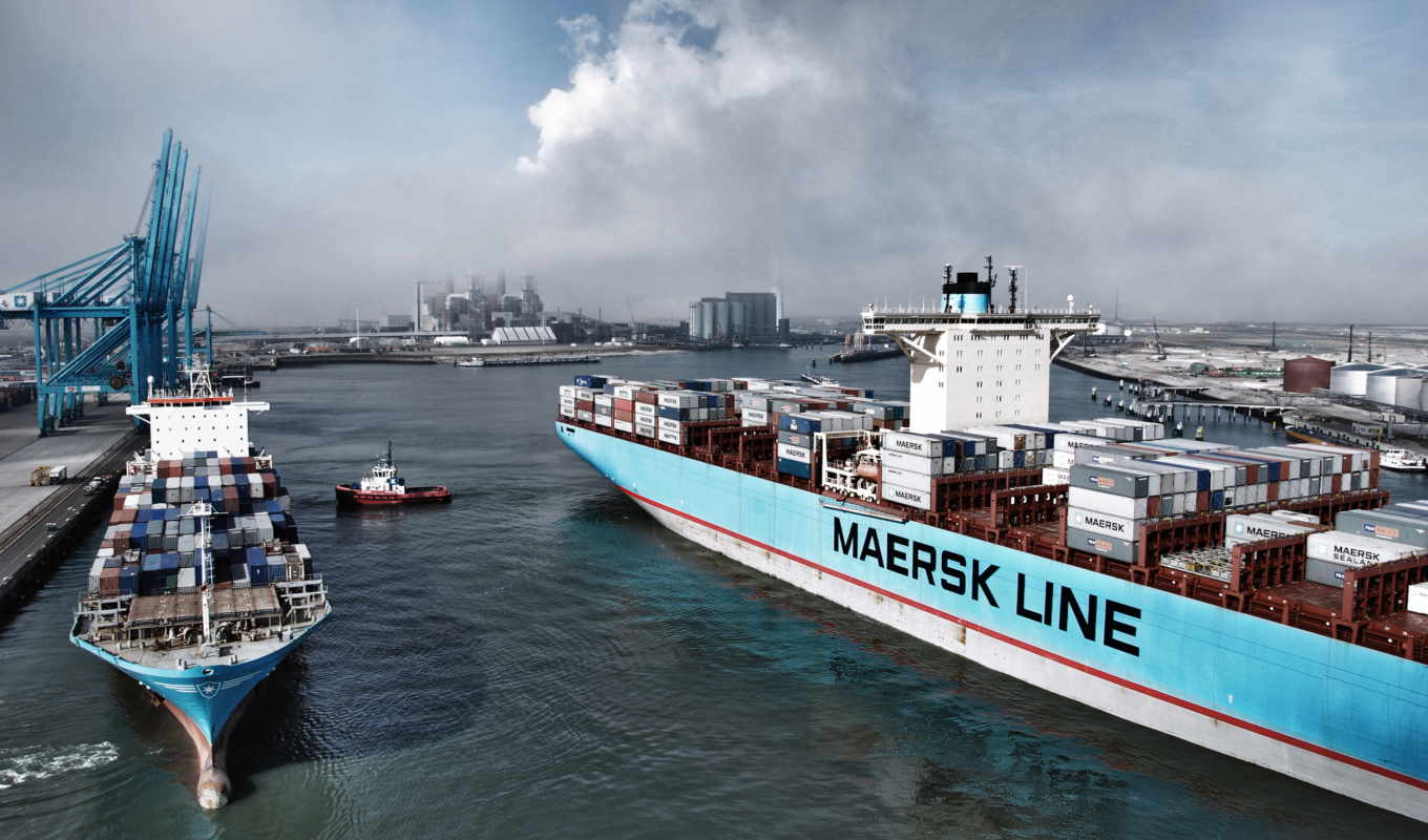 maersk, line, container, судно,