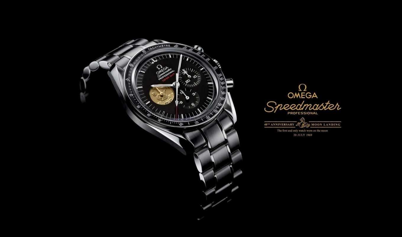 часы, speedmaster, omega, watch, professional, луна,