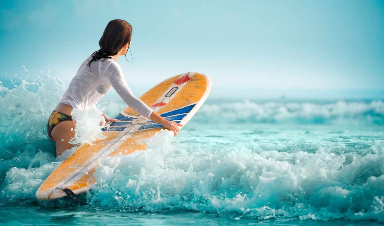 девушка, же, картинку, волны, water, женщины, women, океан, кнопкой, левой, обою, нажав, мышки, сверху, кнопку, обоине, влажный, surfing,