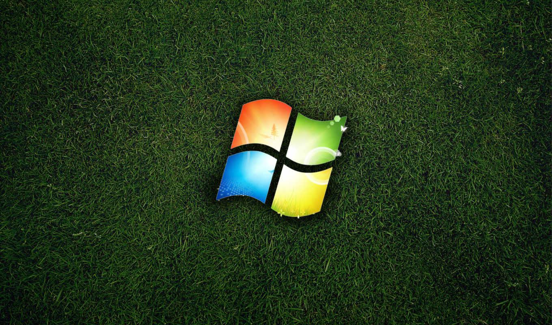 windows, win-7, categoria, hierba, логотип,