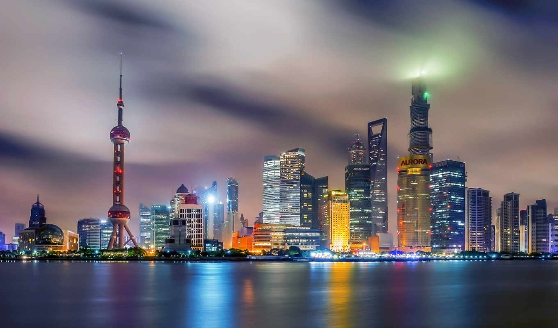 shanghai, город, дробилок, china,