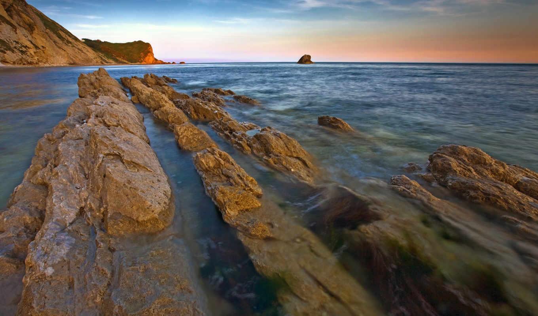 природа, скалы, море, небо,