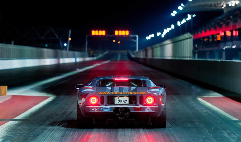 ford, drag, race, ночь, огни, racing,