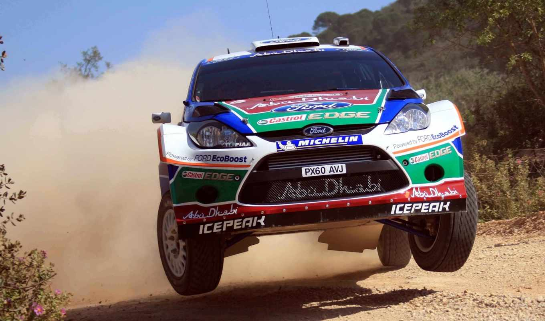 rally, португалия, wrc, fiesta, ford, пыль, день, race, rajd, ken,