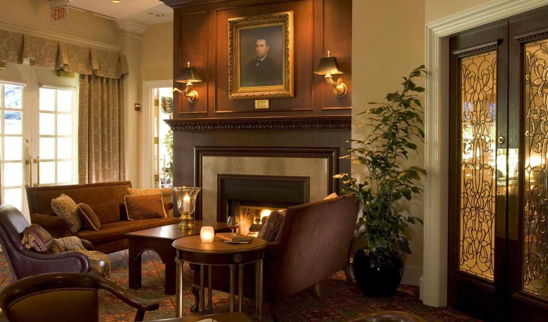 камин, интерьер, living, комната, design, диван,