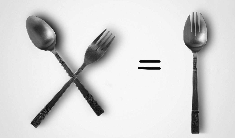 spoon, fork, photowall, нашем, windows, сайте, красивые, графика, пт,