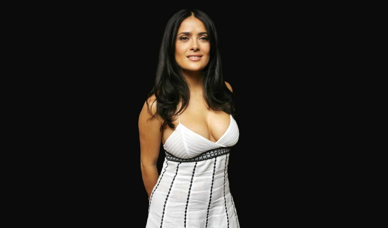 hayek, salma, платье, актриса, грудь, прекрасная, девушка,