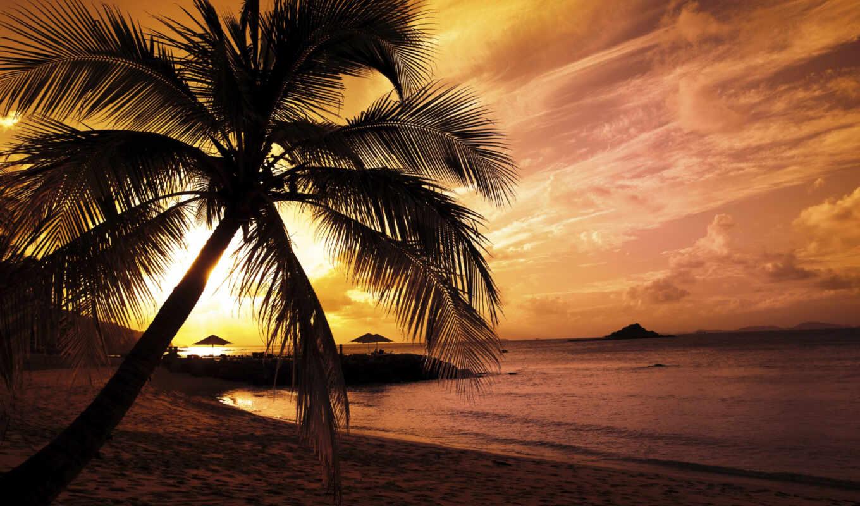 słońca, zachód, fototapeta, zachody, plaża, острова, без, красивые, регистрации, tapety,