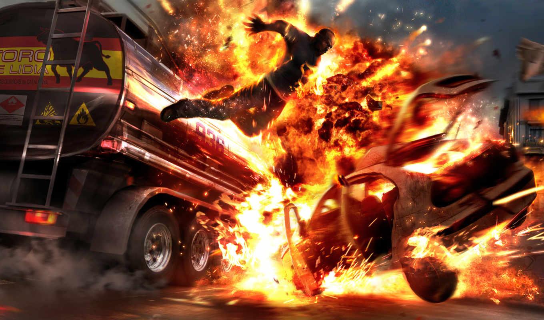 wheelman, game, games, tankerjump, горящий, console, взрыв, file, человек, огонь, boom,