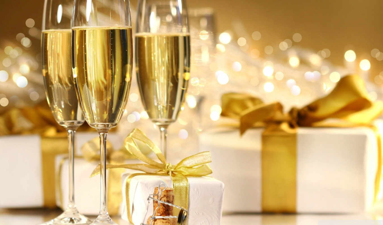 очки, шампанского, шампанское, glass,