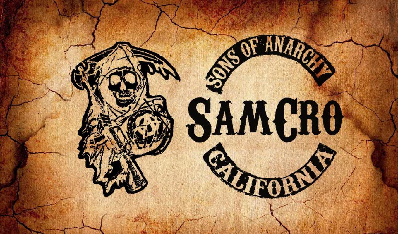 sons, anarchy, сыны, анархии, logo, samcro, минимализм, серия,