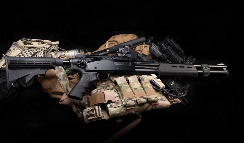 оружие, помповое, техника, пистолет, глушитель, martha,