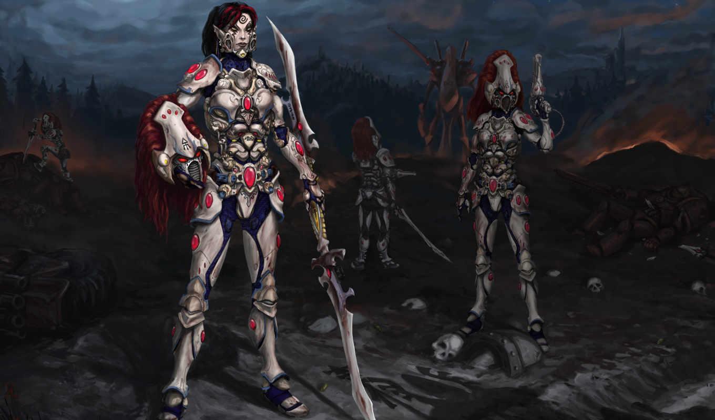 warhammer, eldar, game,