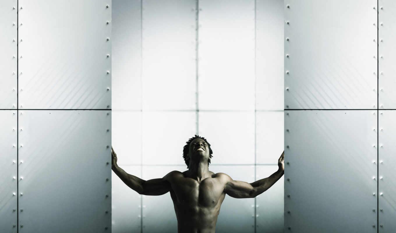 камера, мужик, изоляция, wallpaper, негр, walls, spreading, картинка, мужчины, power,