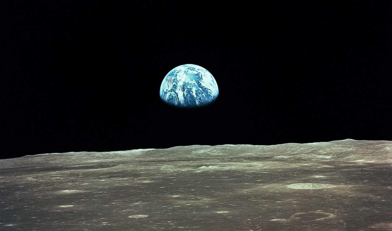 moon, earth, view, планета, apollo, earthrise, galaxy,