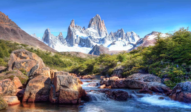 гора, фицрой, переводе, одновременно, патагонии, языка, означает, теуэльче, дымящаяся, вершина, горная,