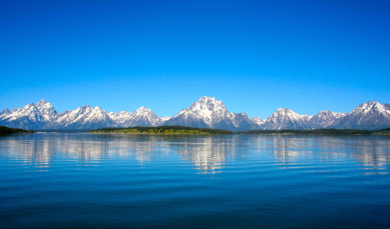 горы, природа, landscape, озеро, небо, отражение, берег,