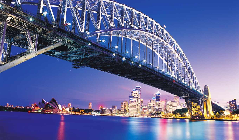 мост, мира, harbor, красивые, мостов, австралия, sydney, самые, мосты,