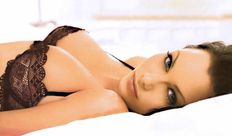 джессика, джейн, clement, девушки, красивая грудь, череное белье,