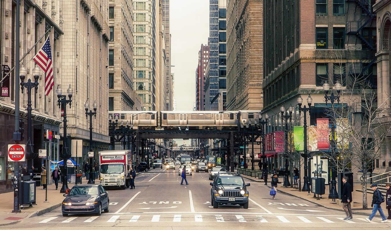 chicago, небоскребы, usa, здания, america, иллинойс,