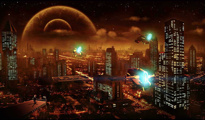 cosmos, город, fantasy, art, world, города,