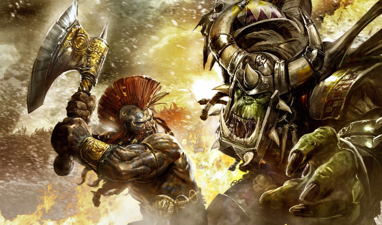 warhammer, online, games, reckoning, game, battles, против, игры, орк, battle, age, fantasy, орка, монстра, gallery, гном,