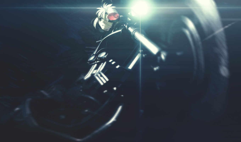 мотоцикл, фара, девушка,