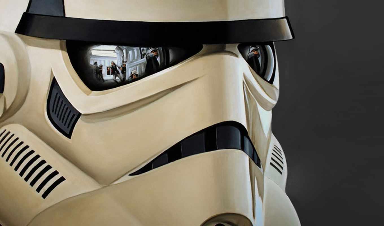 star, trooper, wars, шлем, повстанцы, отражение, штурмовик, stormtrooper, with, storm, reflections, картинка,