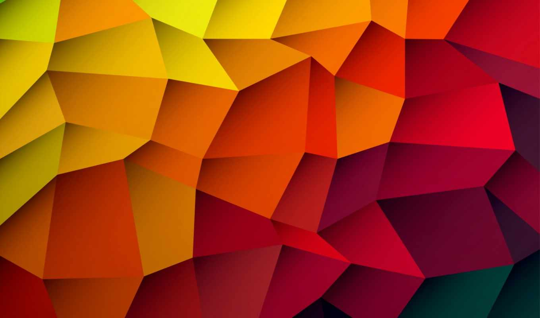 фон, abstract, colorful, треугольники,