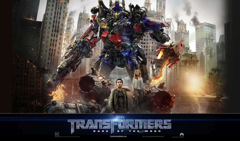 трансформеры, side, луны, темная, transformers,