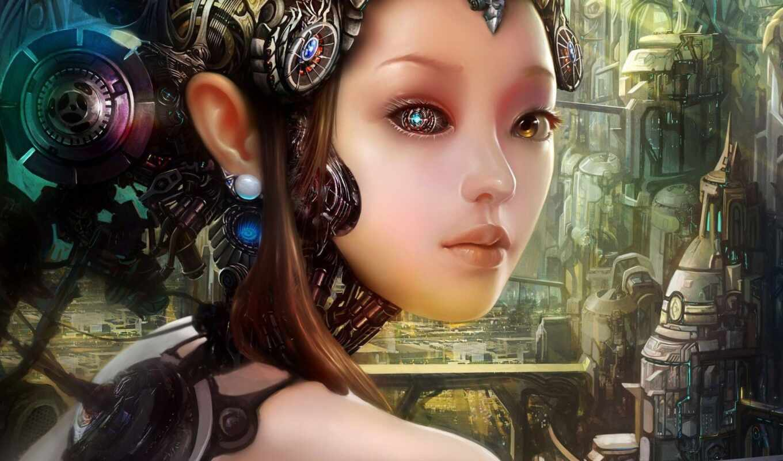 cyborg, human, robot
