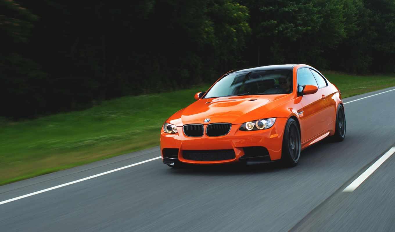 bmw, оранжевый, бмв, взгляд, скорость,