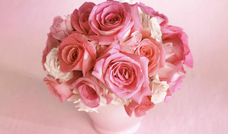 розы, цветы, цветок, букет, ваза, роза